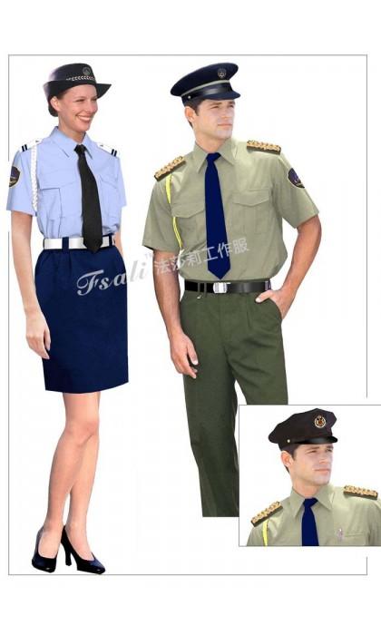 保安制服短袖图片