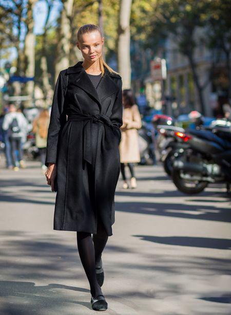 学学冬季大衣腰带系法 时髦还超显瘦