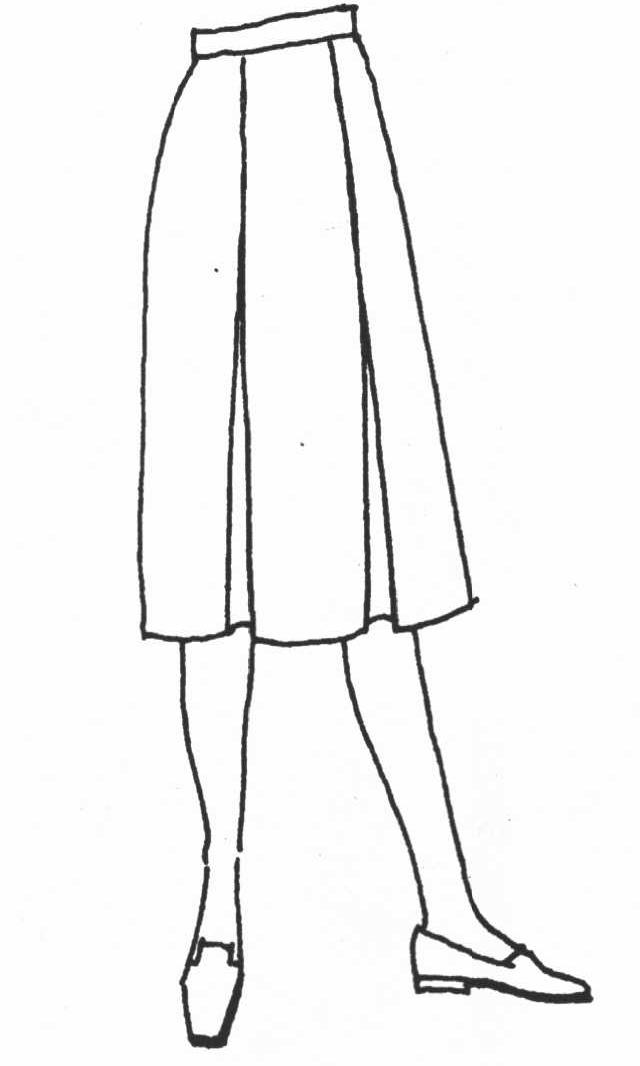 服装立体裁剪褶裥裙
