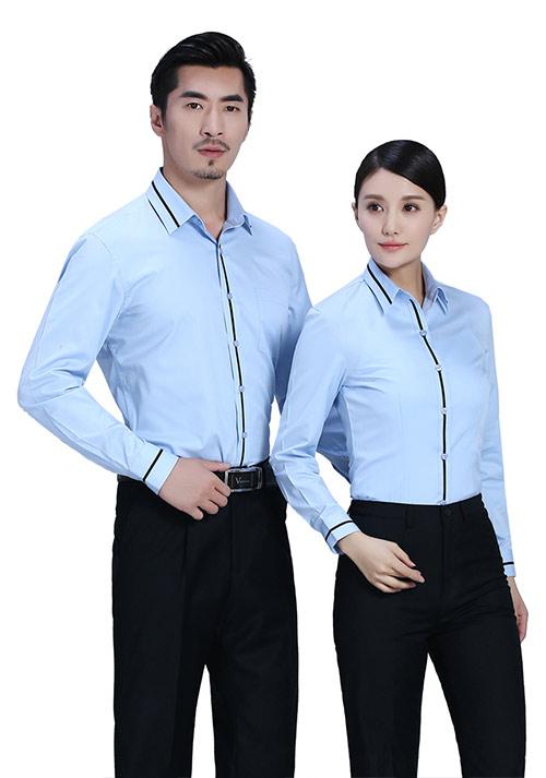 北京定制职业装男短袖衬衫