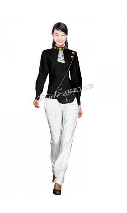 北京迪吧服务员工作服定制—职业装大小袖的结构设计及成型