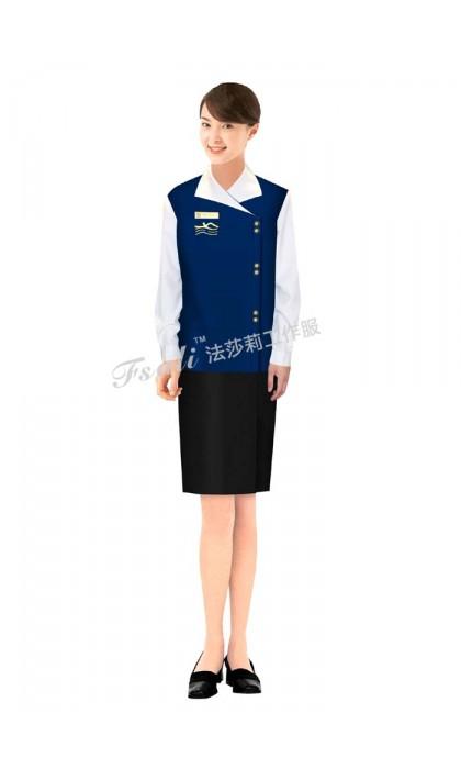北京水区更衣服务员服装定做不同的行业对工作服的选择
