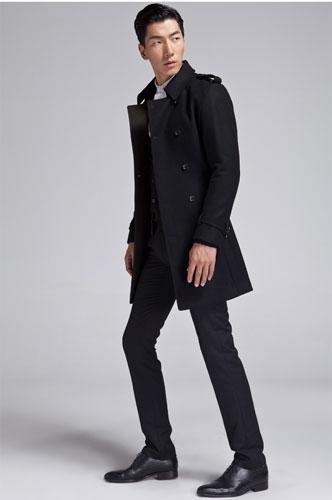 大衣和西装完美的配搭