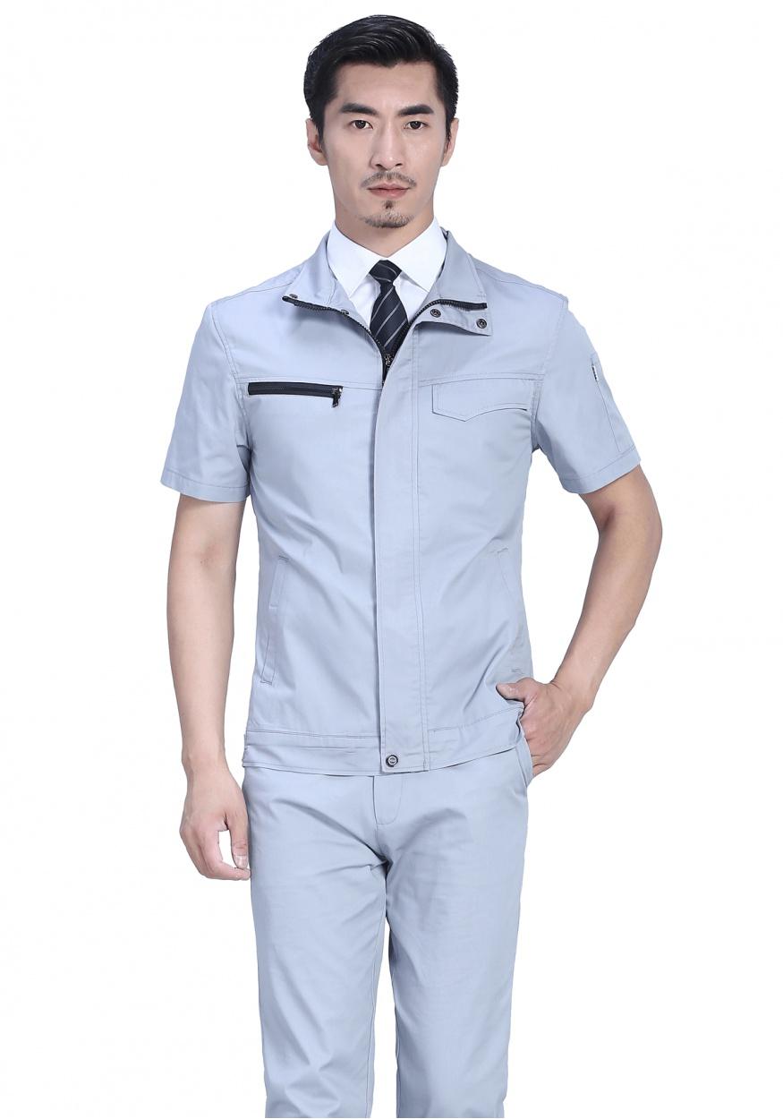 银灰色FY628夏季短袖工作服