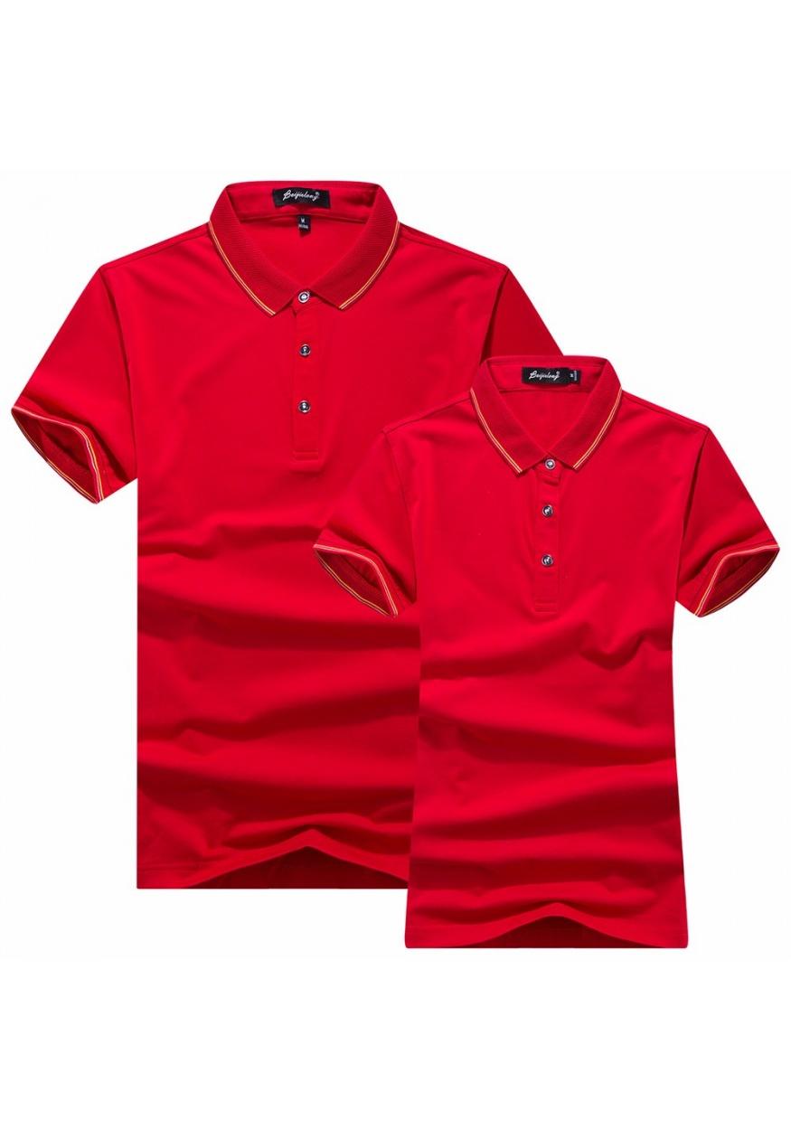 大红色精品T恤POLO衫可定制