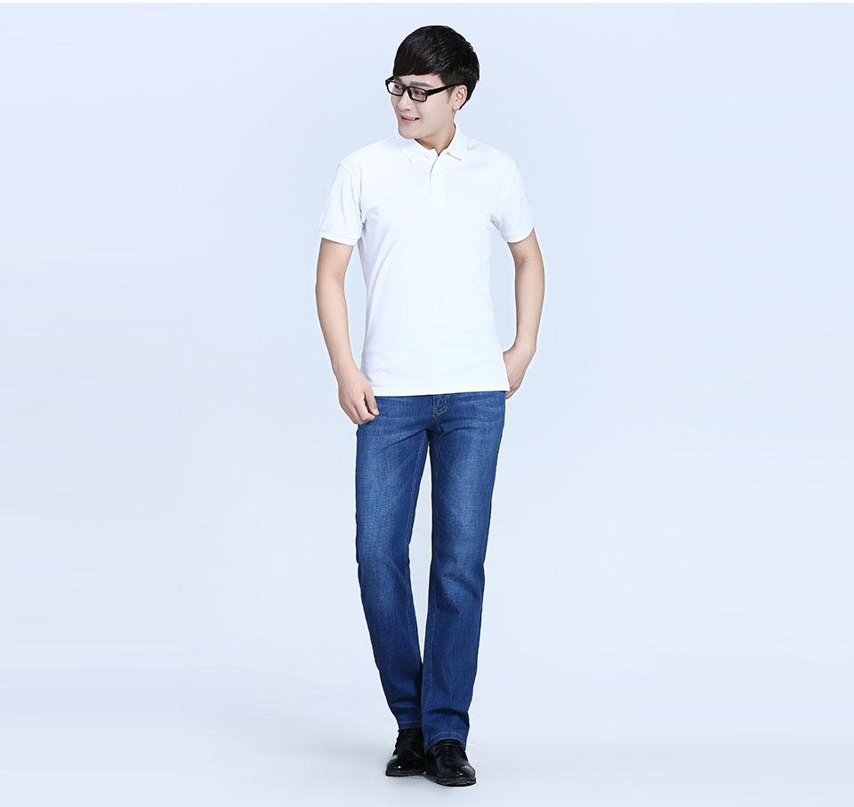 宝蓝反面双纱POLO衫T恤
