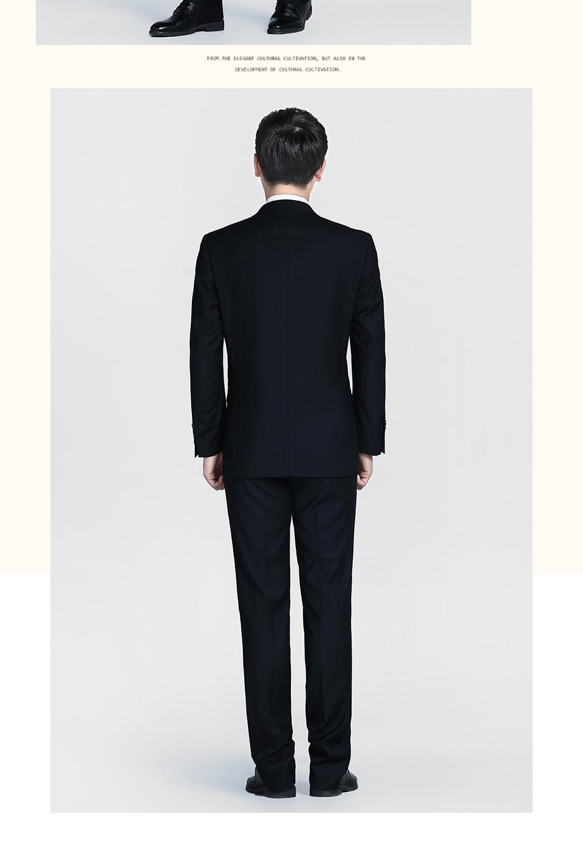 新款黑色商务西装两粒扣西服FX001